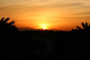 Sunrise over Playa Vista